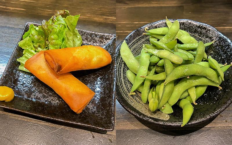 春巻き・枝豆